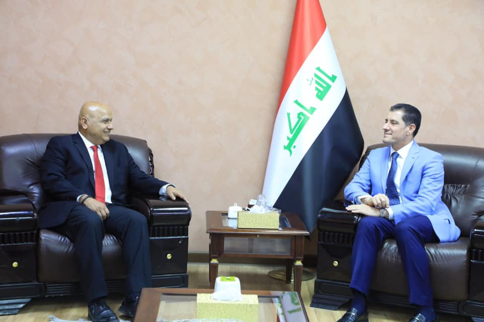 Minister of Planning discusses with the Director of the Mashreq Department at the World Bank the efforts to restore stability and reconstruction in the liberated areas 1562612309755f422205d230ad7293ee6c82b6f934--66235091_2611122772447930_5576815631409348608_n
