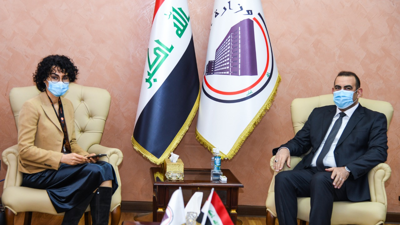 The Minister of Planning discusses with the representative of the United Nations Population Fund the Ministry's preparations and procedures for implementing the census 1612691671a95d2db0e2a5c5651257d62deab9aad3--WhatsApp_Image_2021-02-07_at_12