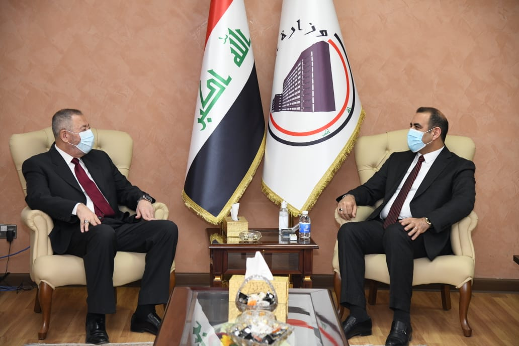 During the Minister of Planning's meeting with the Kingdom's ambassador: Iraq and Jordan discuss the mechanisms of establishing a joint economic city 1613492298ab2591b39f119f32bdaa60baaa261433--WhatsApp_Image_2021-02-16_at_2