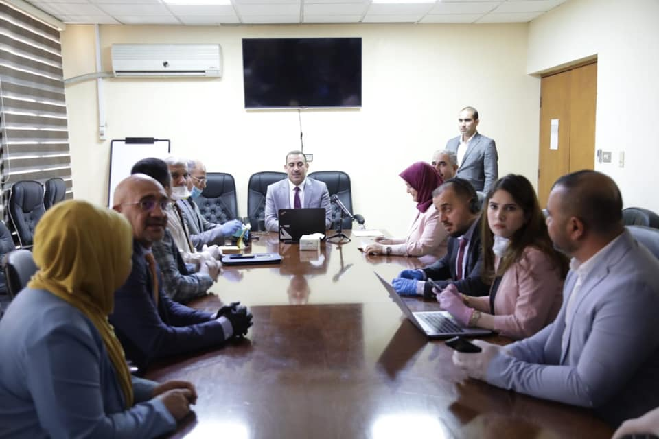 """During his meeting with the president and members of the """"Hamm Al-Taleb"""" youth organization .. Minister of Planning: The youth segment represents a first priority within the Ministry's strategic plans 1589735735fd8b95955af624e76571cf73fca3b326--idms"""