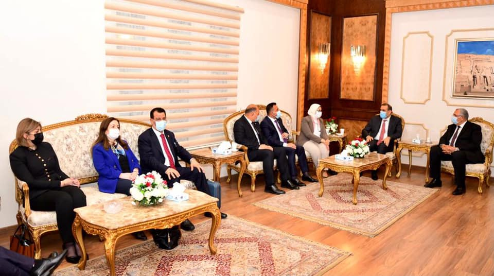 At the head of a high ministerial and governmental delegation ... the Minister of Planning arrives in Cairo to activate the agreements and projects emanating from the Iraqi-Egyptian-Jordanian Coordination Council. 1607537240abbb57f470d56f64e9619bd0a3508926--%D8%A7%D9%84%D9%89_%D8%A7%D9%84%D9%82%D8%A7%D9%87%D8%B1%D8%A9