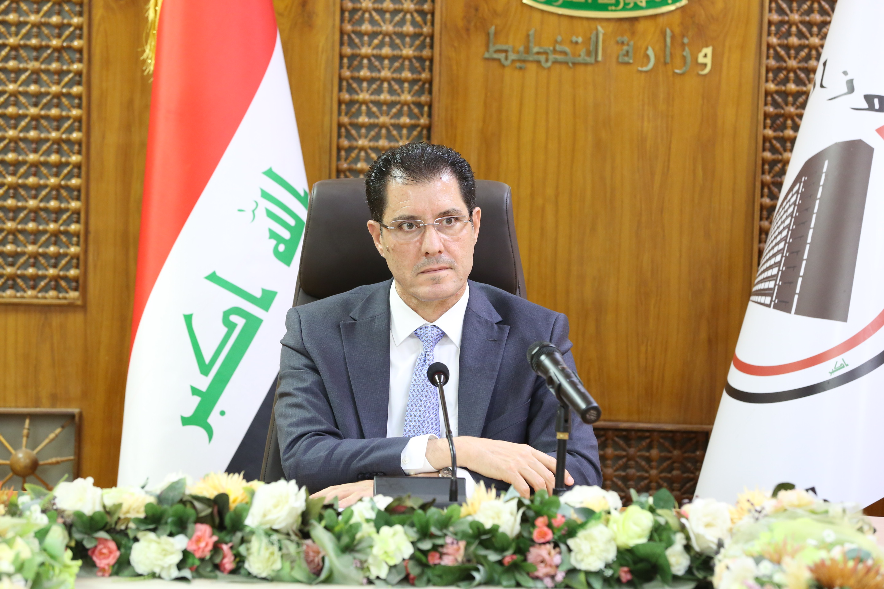 """Meeting of the Minister of Planning, Dr. Nuri al-Dulaimi on the Iraqi channel in the program """"outside the Fund"""" on 2019/7/7 15626521226aba66d0346d42abb1dd499bdd6c152c--1K9A8943"""