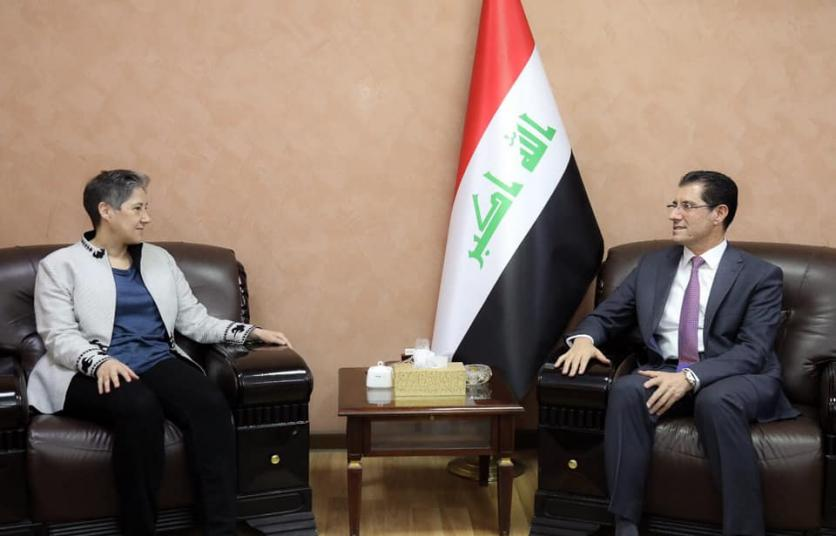 The Minister of Planning is considering ways to strengthen the efforts to restore stability in the liberated areas with the UNDP Resident Representative in Iraq 15578938449281462603ae66385ec9d39e11e71c48--UNDP