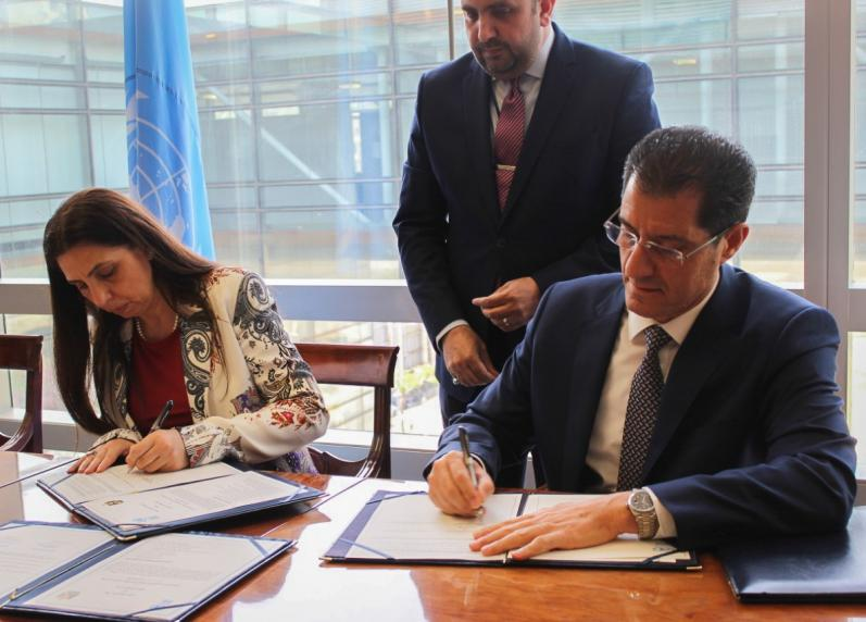 The Minister of Planning signs a memorandum of cooperation with the UN-ESCWA Commission on Capacity Building and Advisory Services 155925233230f3c61de6dd7adf1ff69760bfb2278c--8107F6EF-01AA-4CCE-9BC2-897F7BF7B66F