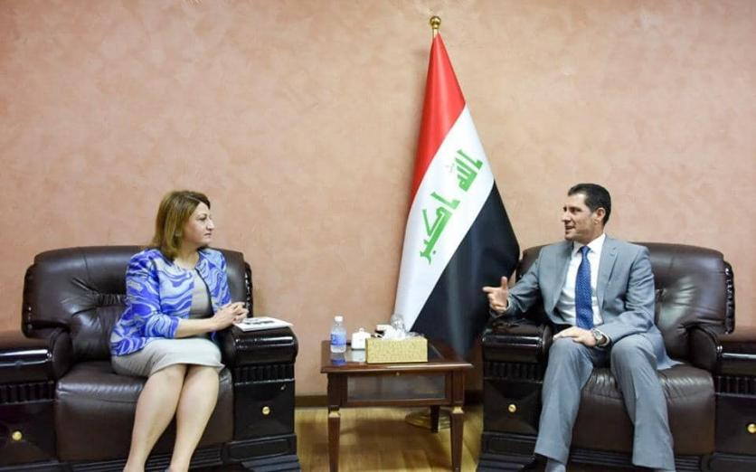 Minister of Planning discusses with the President of the Iraqi Women Parliamentarians Association ways to support and empower women 1562773871081bf6116ab0841fc91c4ac57806d81c--66734516_2612615672298640_667446232855085056_n