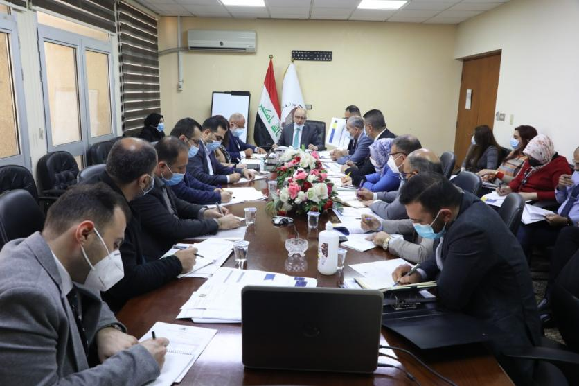 Planning and the World Bank discuss the implementation of the economic and social survey and the youth empowerment program in Iraq 161329192592bc57e0a8f6c7e6e65e22f8af8504fc--WhatsApp_Image_2021-02-14_at_11