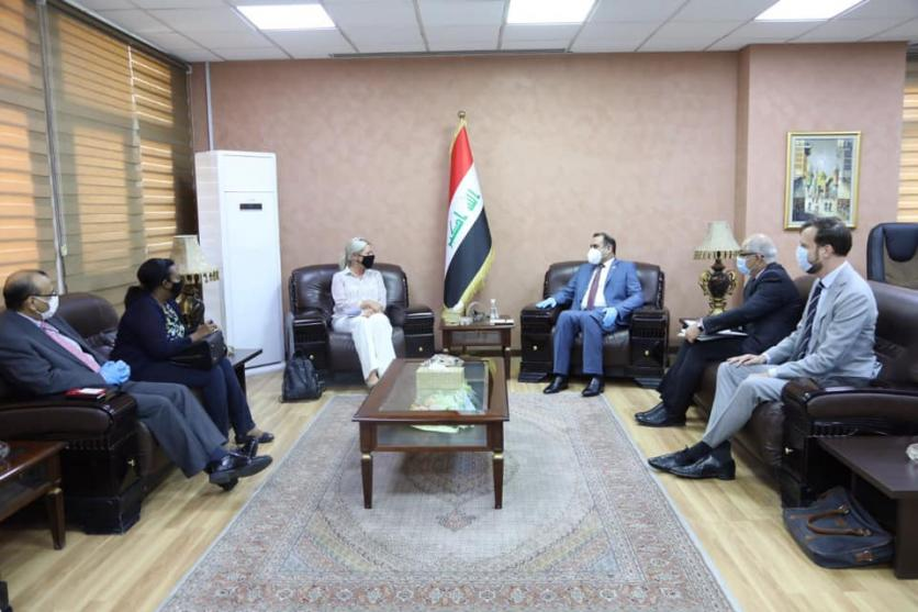 The Minister of Planning discusses with Blackshart the role of the United Nations in supporting the efforts of the Iraqi government, to confront the current crisis, address the issue of displacement, and implement the census 15936777469e7831ae84f414e78b8fe16f3e290c24--%D8%A8%D9%84%D8%A7%D8%B3%D8%AE%D8%A7%D8%B1%D8%AA