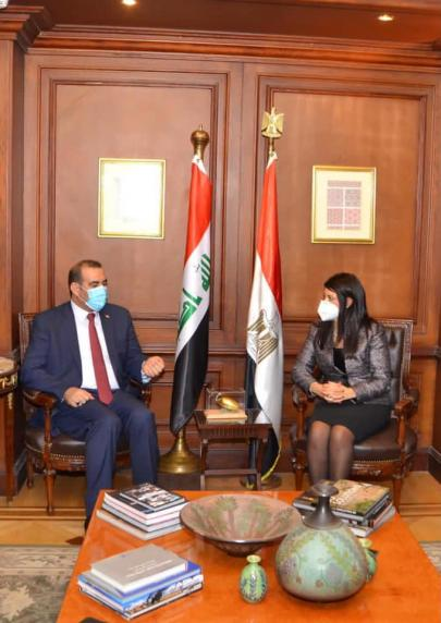 At the head of a high ministerial and governmental delegation ... the Minister of Planning arrives in Cairo to activate the agreements and projects emanating from the Iraqi-Egyptian-Jordanian Coordination Council. 1607624837e504890e0506c6b8e500e69ce934fb90--%D8%B1%D8%A7%D9%86%D9%8A%D8%A7