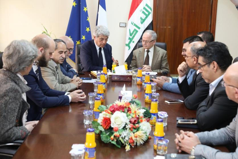 Iraq, France sign memorandum of understanding to support water projects ... 15534231011a0cc64cde30aedeabbc3dce4f5a92c2--WhatsApp_Image_2019-03-24_at_1