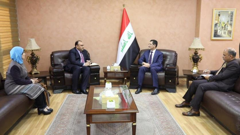 The Minister of Planning receives the Chairman of the Parliamentary Culture and Information Committee and the head of the Iraqi Media Network 15535391217ca6142e6d0e44050c38d1bea5d8a219--55604067_2532156143677927_8931311172645289984_n